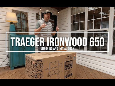 Traeger Ironwood 650 Unboxing And Initial Cook