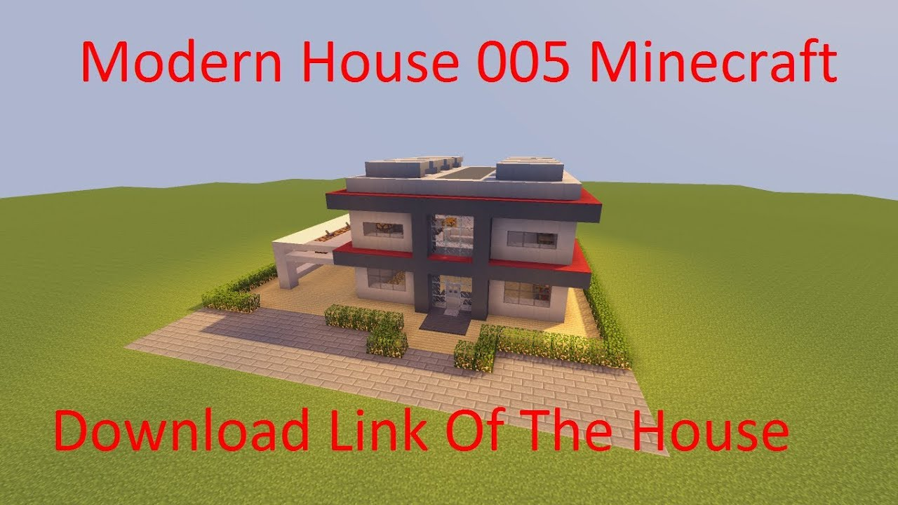 Minecraft modern house schematic download link youtube for Modern house schematic