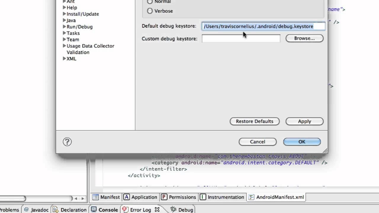 Android Application Development Tutorial - 130 - Obtaining Google Maps API  debug key
