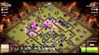 The Red Line vs ClashHeads, attack #14 TH9 vs TH9 | Clan Wars | Clash Of Clans HD