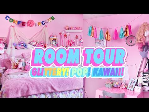 ♡ ROOM TOUR | MY GLITTERY POP KAWAII ROOM ♡