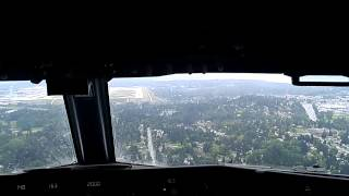 Alaska Airlines landing/taxi Seattle Tacoma International airport