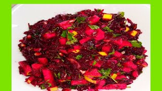 Фруктово-овощной салат.Свекольный салат с гранатом.