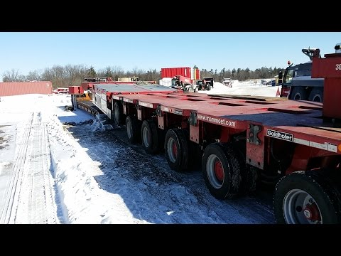 HEAVY HAUL TV: Loading a 6 axle SPMT***