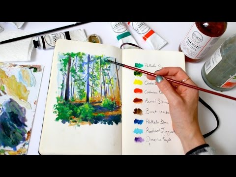 Forest Sketch + How to deal with artistic burnout | Sketchbook Sunday #28