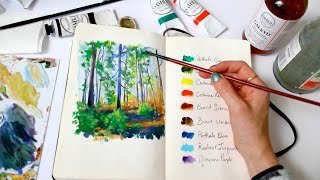 Forest Sketch + How to deal with artistic burnout   Sketchbook Sunday #28