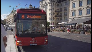 Sweden, Stockholm, bus 65 ride from Nationalmuseum to Moderna Museet