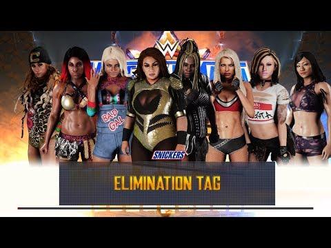WWE 2K18 - Team Nia Jax VS Team Awesome Kong