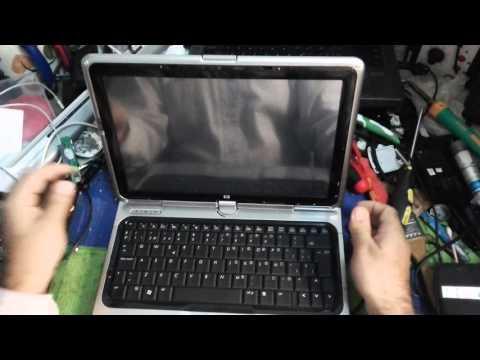 hp pavillion tx1000 display problem repair part1 - YouTube