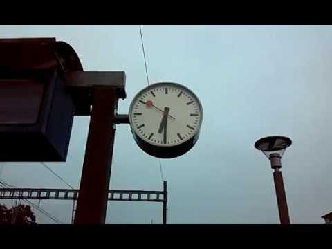 Strange Swiss Railway Clock Youtube