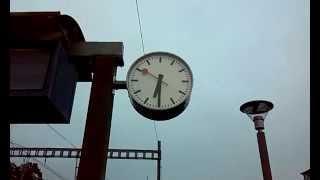 strange swiss railway clock