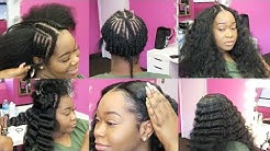 I GOT A SEW IN! | 2 Bundles Sew-In On Natural Hair | START TO FINISH | Honey Hair Co