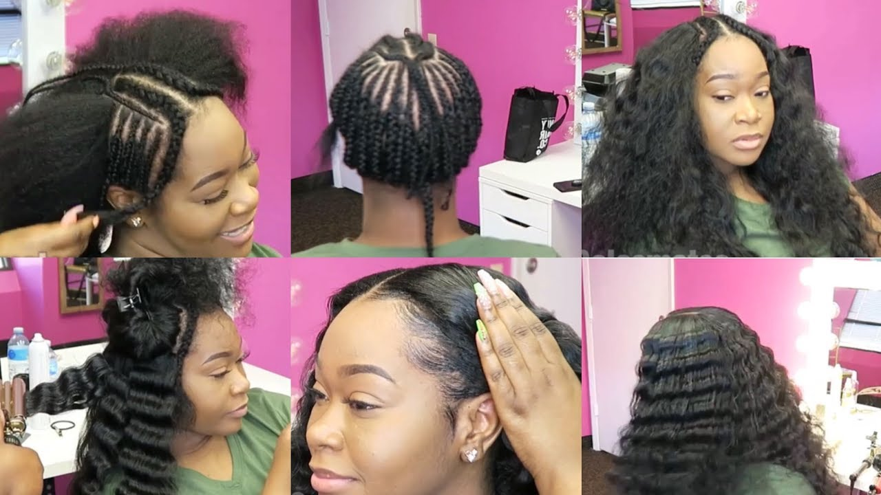 Sew In Styles For Natural Hair: 2 Bundles Sew-In On Natural Hair