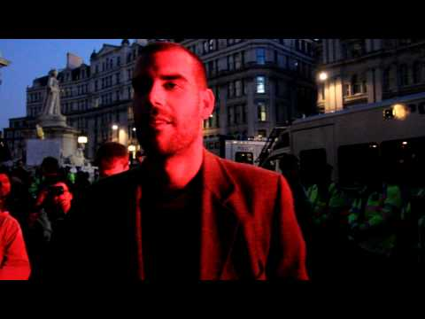 Charlie Veitch talks at Occupy London Stock Exchange