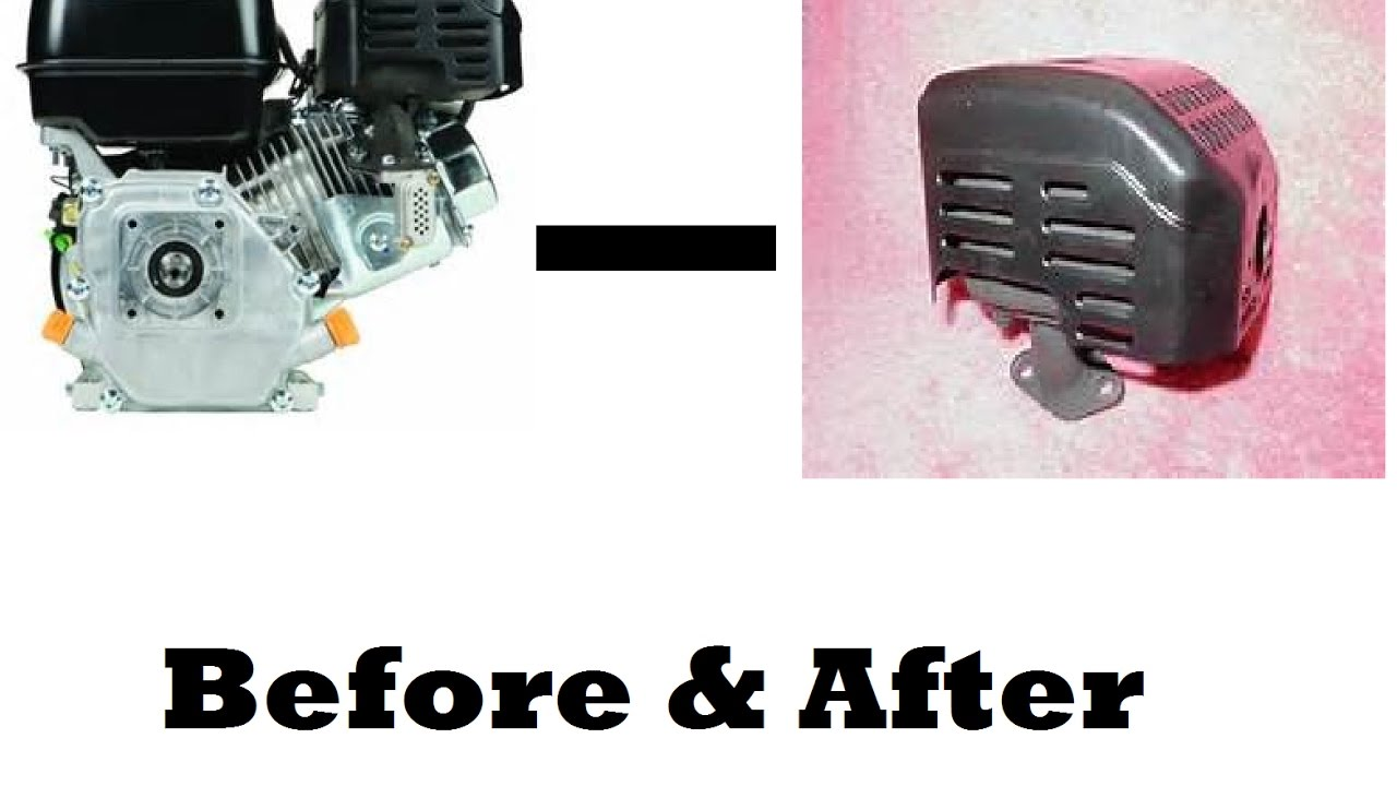 predator 212cc exhaust removal before after