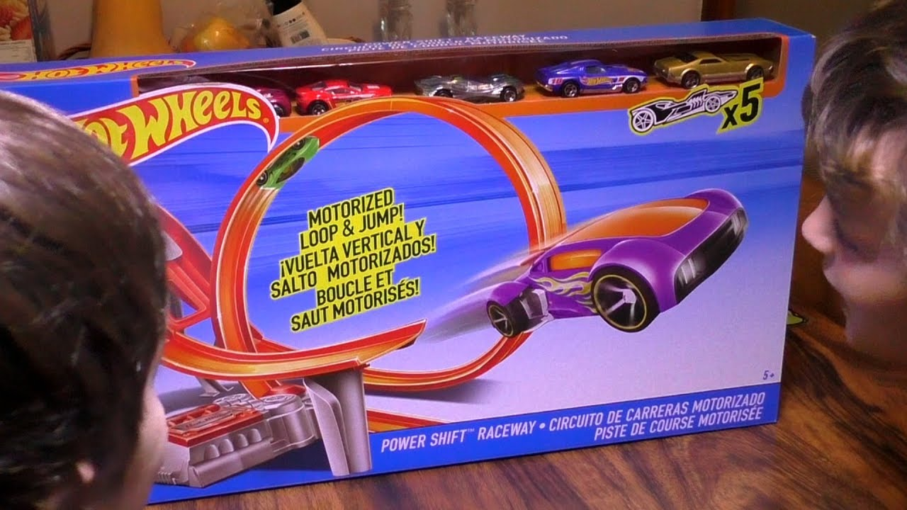 Circuito Hot Wheels : Kids toy cars review hot wheels track set unboxing power shift