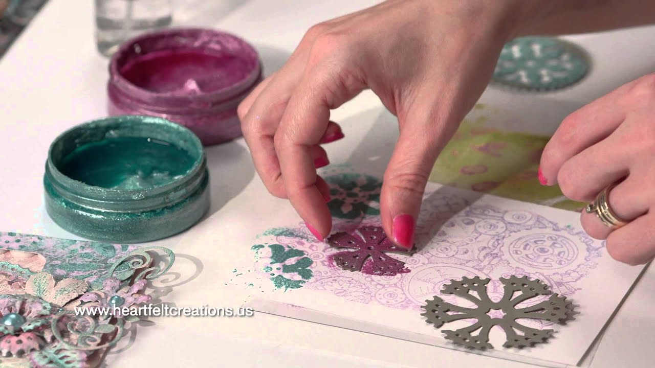 Stamping Ideas For Card Making Part - 31: 5 Easy Mixed Media Cardmaking U0026 Stamping Tips - All Geared Up Collection U0026  Heartfelt Creations - YouTube