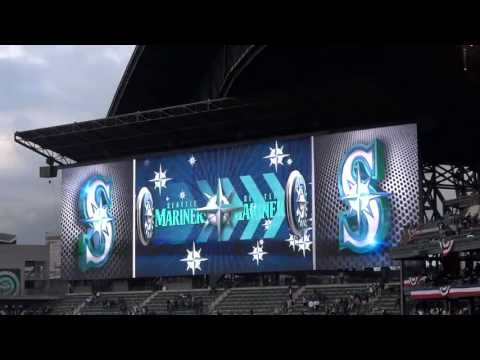 New Seattle Mariners HD video board - Safeco Field - Home Opener 2013