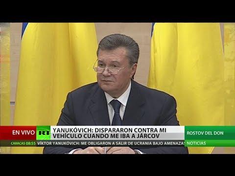 Rueda de prensa de Víktor Yanukóvich, presidente destituido de Ucrania (VERSIÓN COMPLETA)