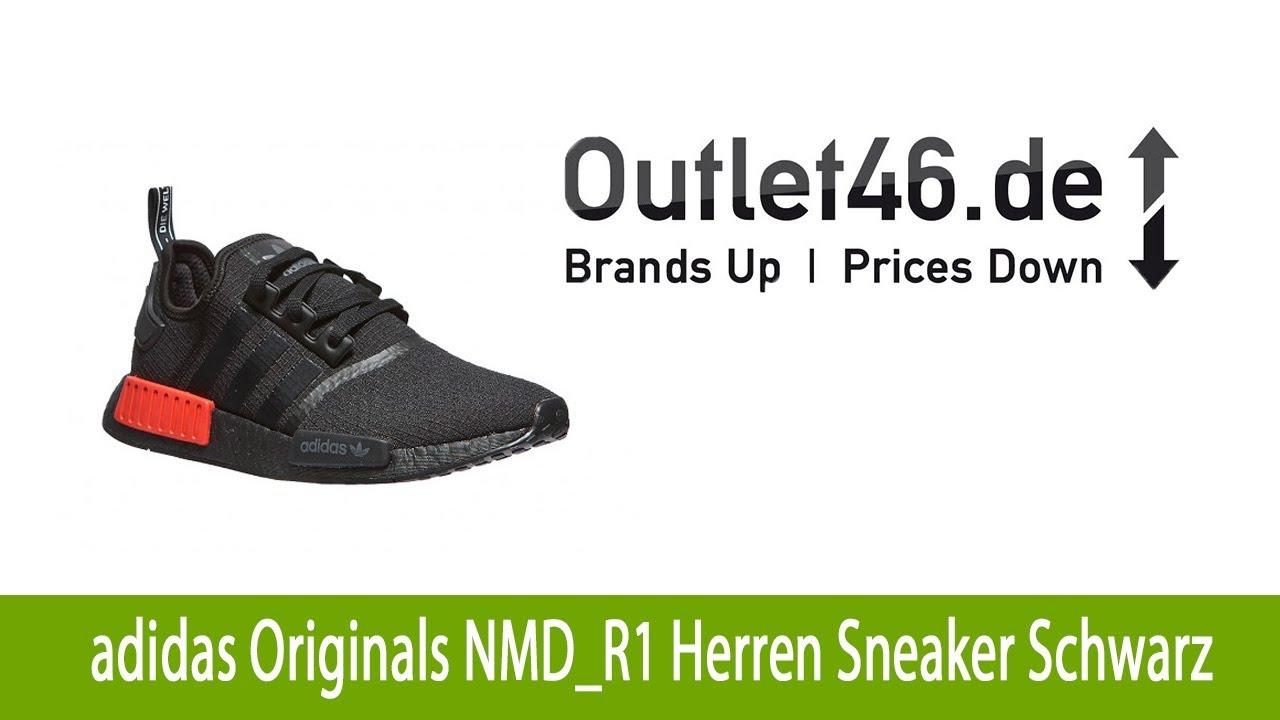 Adidas Originals NMD R1 Sale Schuhe Herren Schwarz