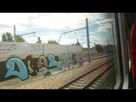 "Vienna suburban train Floridsdorf to Meidling|Wien S-Bahn- S1 Floridsdorf-Meidling mit ""City Jet"""