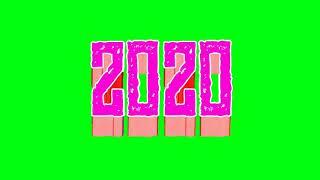 Happy New Year 2020 green screen 4k Happy New Year green happy new year 2020