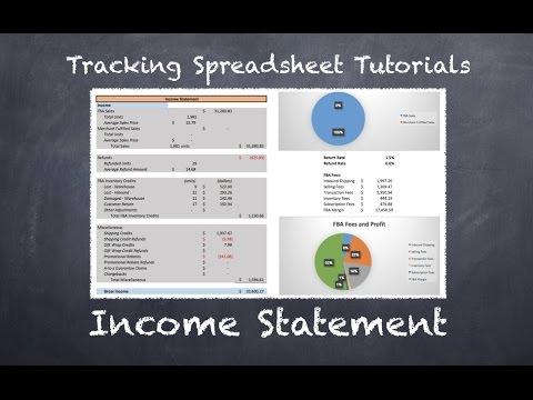 Tracking Spreadsheet 2.0 Tutorial - Income Statement