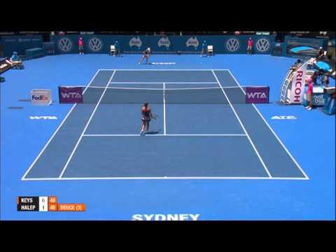 Madison Keys v Simona Halep Highlights, 2014 Apia International Sydney