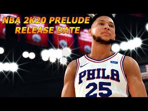NBA 2K20 PRELUDE RELEASE DATE