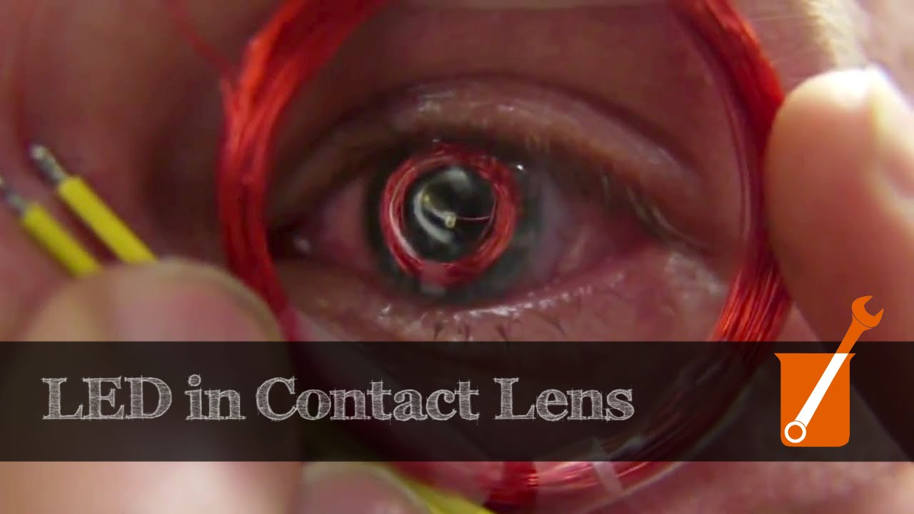 Led Mounted In A Contact Lens For Possible Virtual