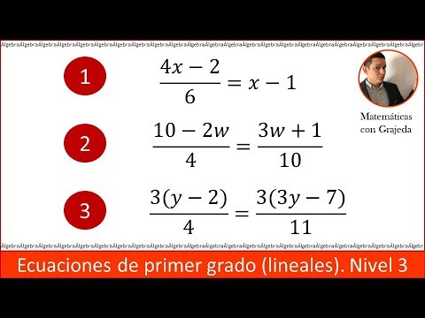Solución De Ecuaciones De Primer Grado Paso A Paso Nivel 3 Youtube