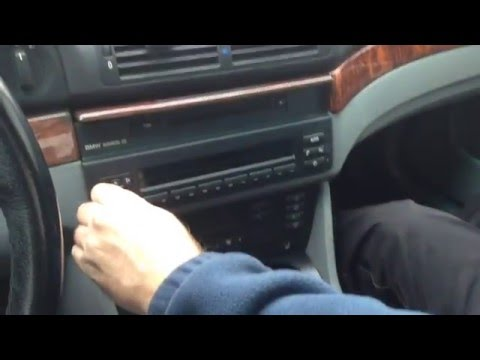 How To Install Remove Radio Stereo AUXILIARY Cord Cable BMW E39 E53 X5 520i 523i 525i 528i 530i 540i