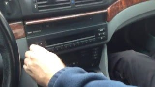 How To Install Remove Radio Stereo AUXILIARY Cord Cable BMW E39 E53 X5 520i 523i 525i 528i 530i 540i