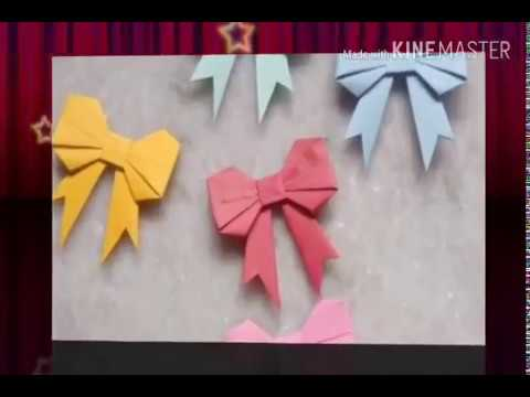 Paper ribbon for gift box decoration- how to cut and fold it