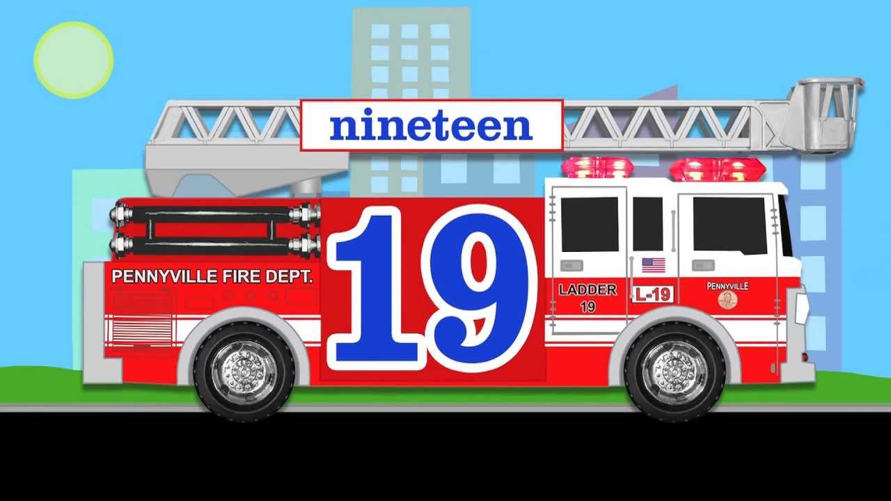 Number Counting Fire Truck