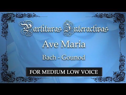 Ave Maria - Bach/Gounod (Karaoke - Key: D major)