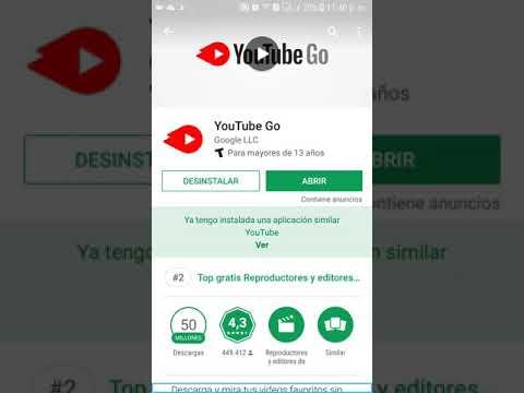 Audio tutorial aplicación YouTube Go para descargar videos y ahorrar datos móviles