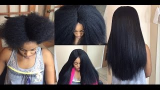 Repeat youtube video #79. YOU CAN'T TELL IT S NOT HER NATURAL PRESSED HAIR