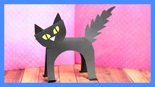 Black Cat Paper Craft -  Halloween crafts for kids