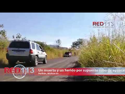 VIDEO Son perseguidos por supuesto robo de aguacate, hay un muerto y un herido