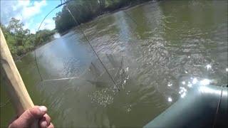 Рыбалка на ПАУК подъёмник на большой реке спиннинг ЩУКА