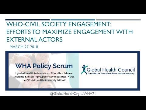 WHA71 Policy Scrum Webinar Series #1: WHO-Civil Society Engagement