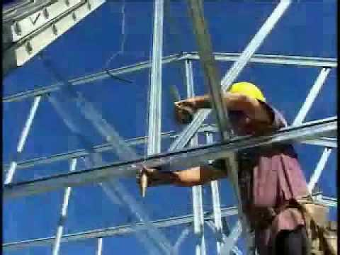 Truss Installation With Cold Formed Steel Trusses Youtube
