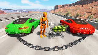 High Speed Jumps - Destroying the Cars #9 (BeamNG Drive Crashes)