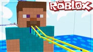 MINECRAFT STEVE IN ROBLOX!? (Cart Ride in Steve da Minecraft)