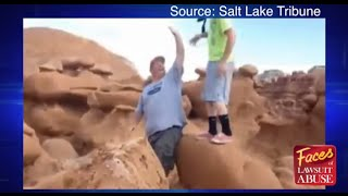 Caught on Video: Plaintiff in pending disability lawsuit topples huge, historic boulder