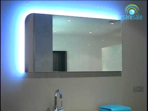 Spiegel Met Led : Burgbad sinea spiegel cm bxh met led verlichting youtube