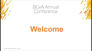 2020 BCxA Virtual Conference Opening Plenary screenshot 2