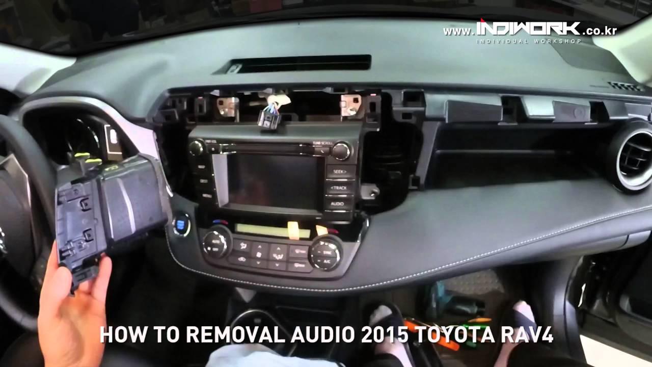How to remove Radio from 2015 Toyota RAV4 by 인디웍 indiwork