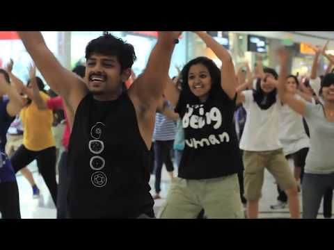 Biggest flash mob in bangalore, so that everyone can say it loud! @mantri square